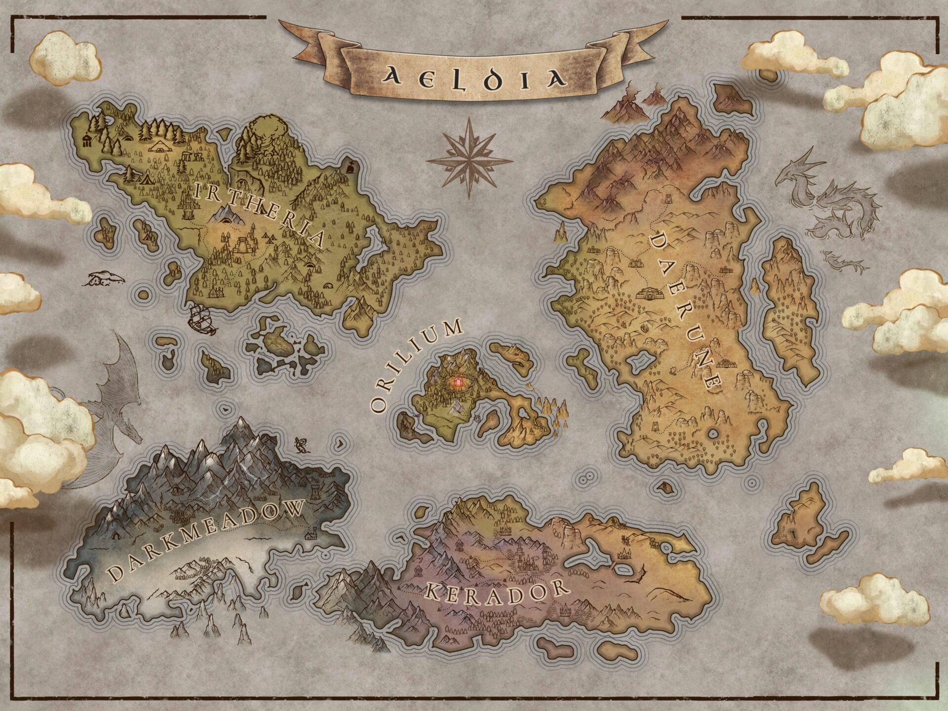 Aeldia map for the magical readathon